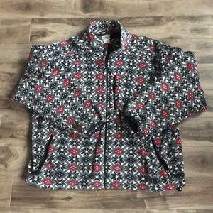 LL Bean Fleece Zip Up Sweater
